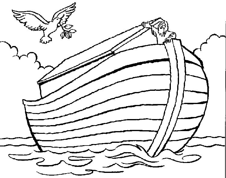 Bible Story Coloring Pages Noah On His Ark