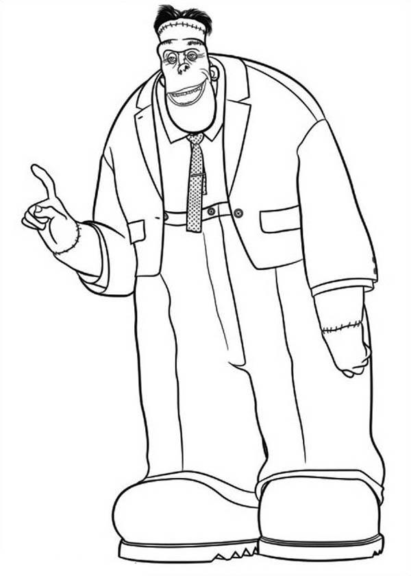 Big And Tall Frankenstein Hotel Transylvania Coloring Pages