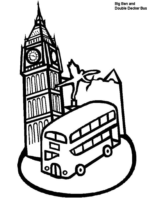 Big Ben Clock Tower London Coloring Pages