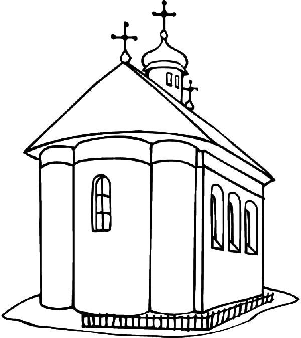 Big Church Coloring Pages Printable