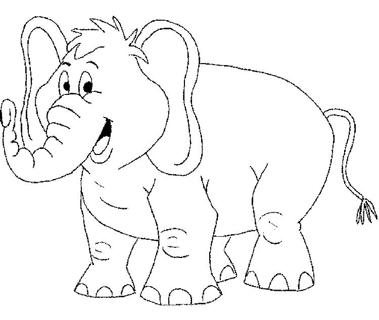 Big Elephant Coloring Pages 1