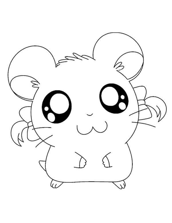 Big Eyed Hamtaro Coloring Pages