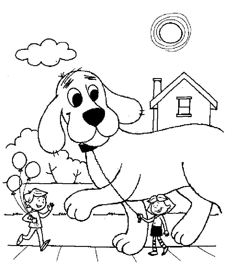 Big Red Dog Coloring Pages
