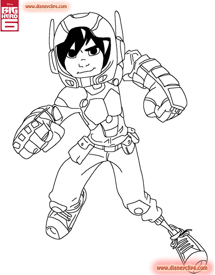 Big Hero 6 Coloring Pages To Print