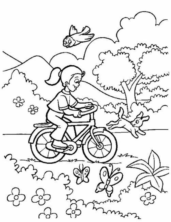 Bike Coloring Pages Spring