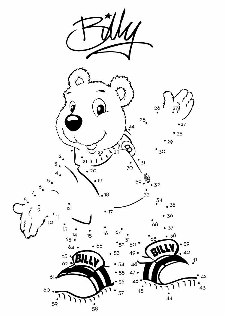 Billy Bear Coloring Pages