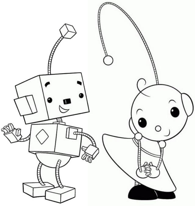 Billy Bevel And Zowie Polie Coloring Page Of Rolie Polie Olie