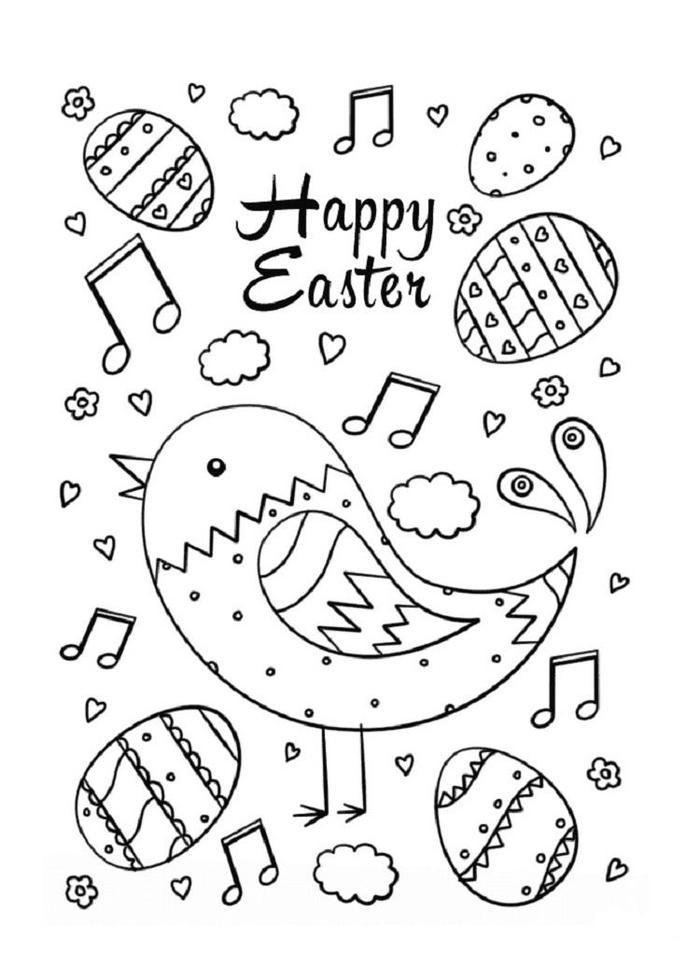 Bird Easter Coloring Pages
