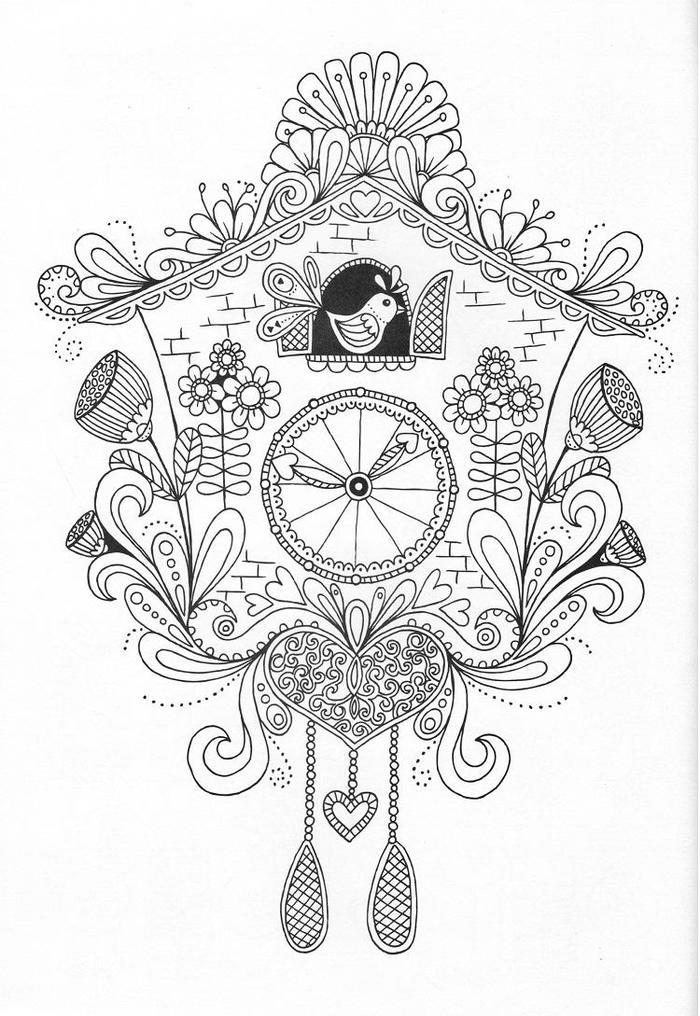 Birdhouse Coloring Pages For Adults