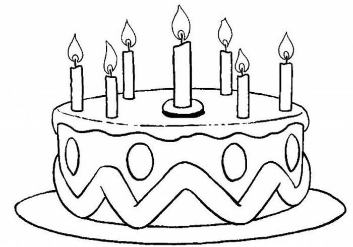 Birthday Cake Candles Coloring Pages