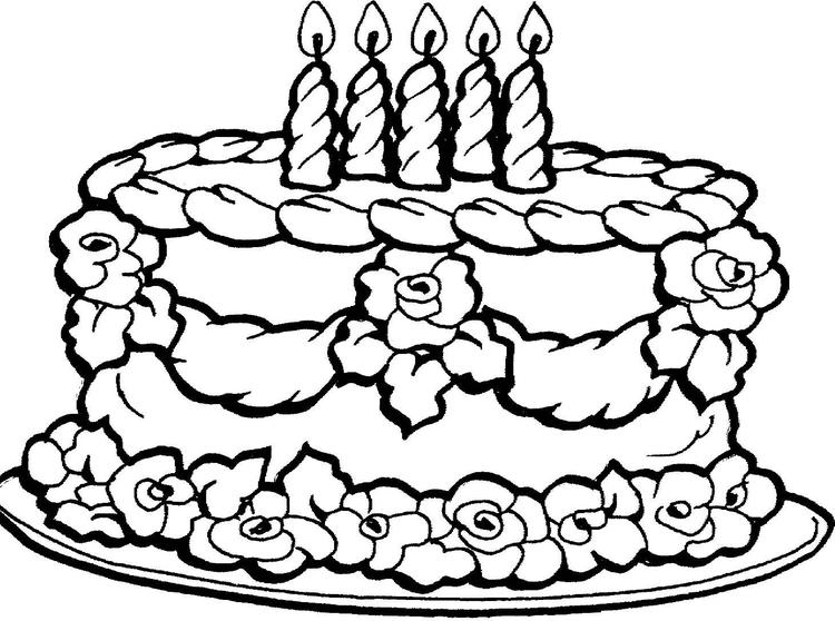 Birthday Cake Coloring Pages For Girls