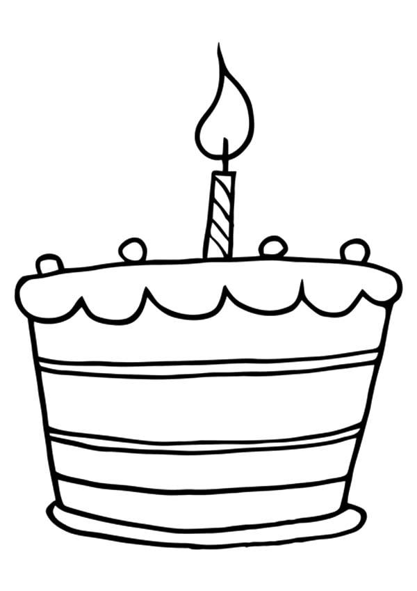 Birthday Cake Coloring Pages For Preschooler