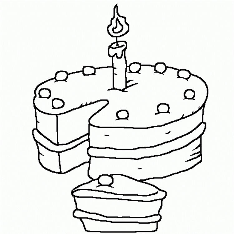 Birthday Cake Coloring Pages Printable For Kids