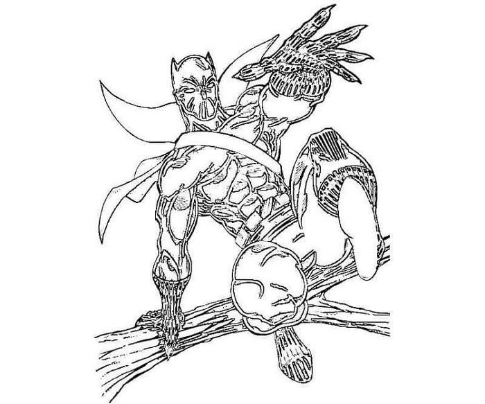 Black Panther Coloring Pages Invinity War