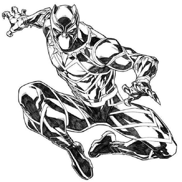 Black Panther Coloring Pages Online
