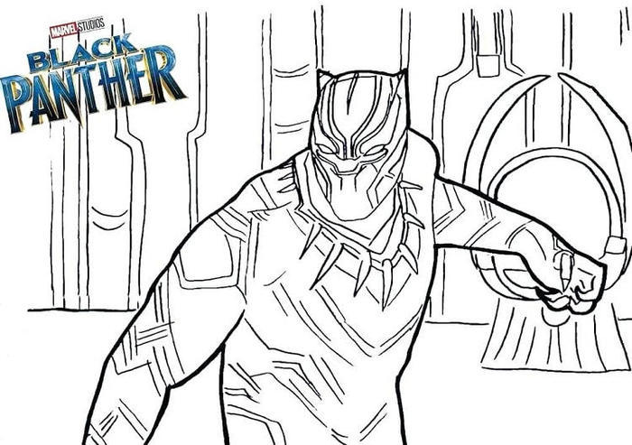 Black Panther Coloring Pages Printable