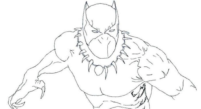 Black Panther Superhero Coloring Pages