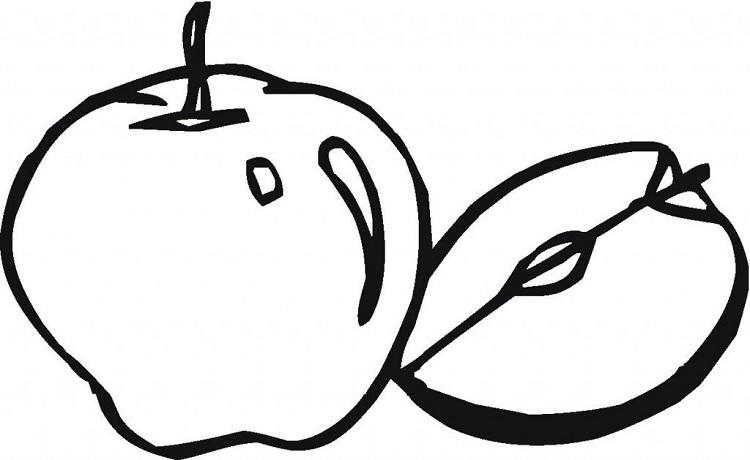 Blank Apple Coloring Page