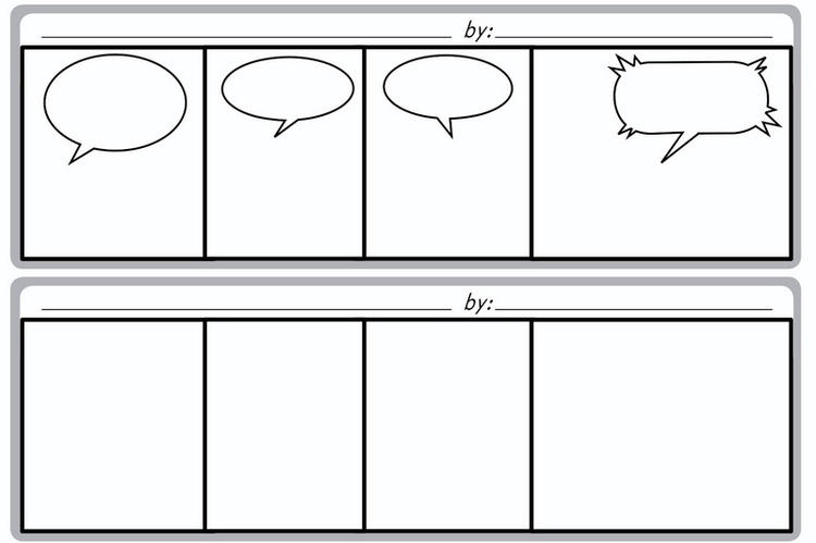 Blank Comic Book Full Page