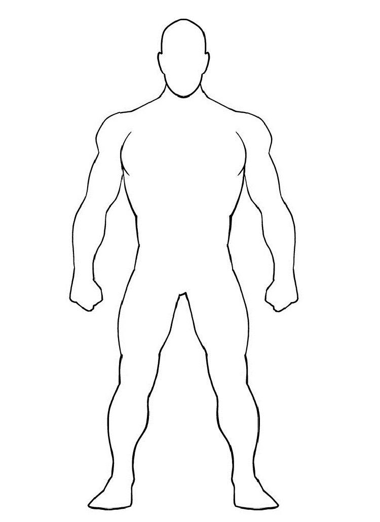 Blank Superhero Coloring Pages