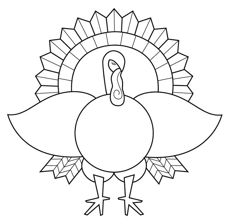 Blank Turkey Coloring Pages