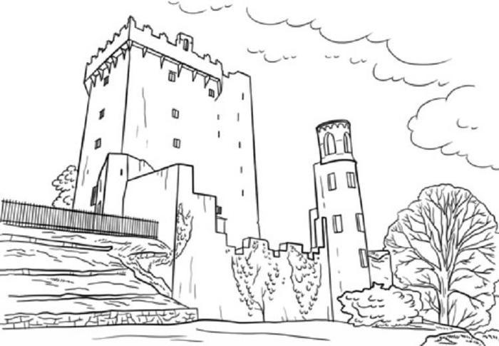Blarney Castle Coloring Pages