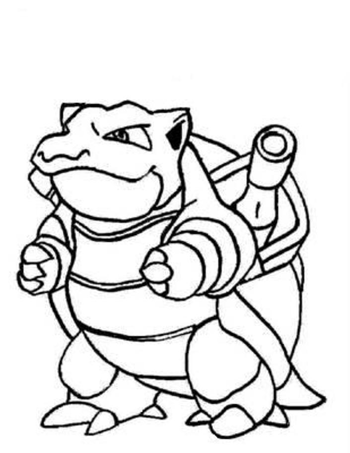 Blastoise Pokemon Coloring Page