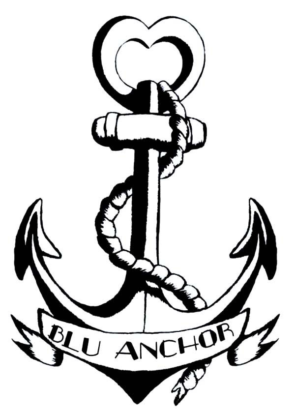 Blu Anchor Logo Coloring Pages