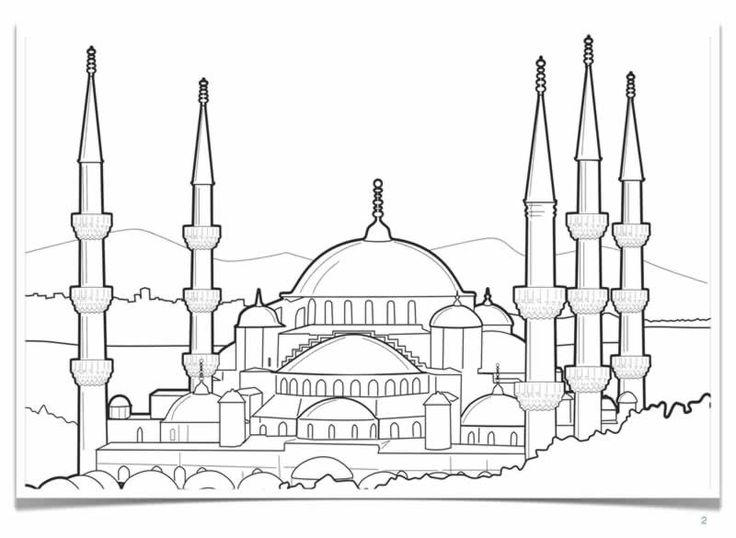 Blue Mosque Turkey Coloring Pages