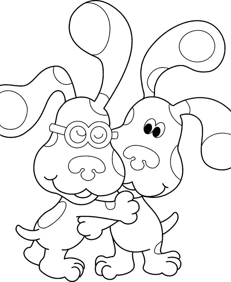 Blues Clues Coloring Pages And Friend