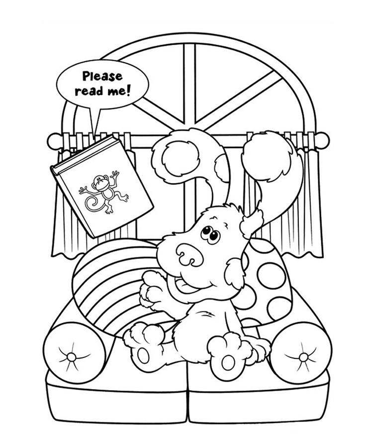 Blues Clues Coloring Pages Free To Print