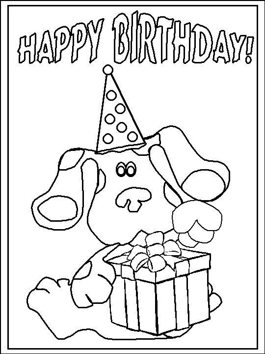 Blues Clues Coloring Pages Happy Birthday