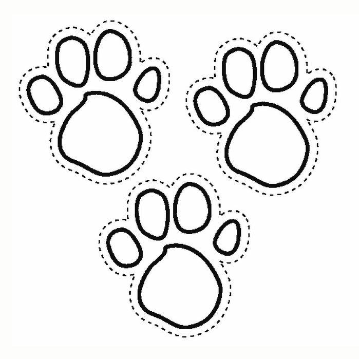 Blues Clues Coloring Pages Paw Print