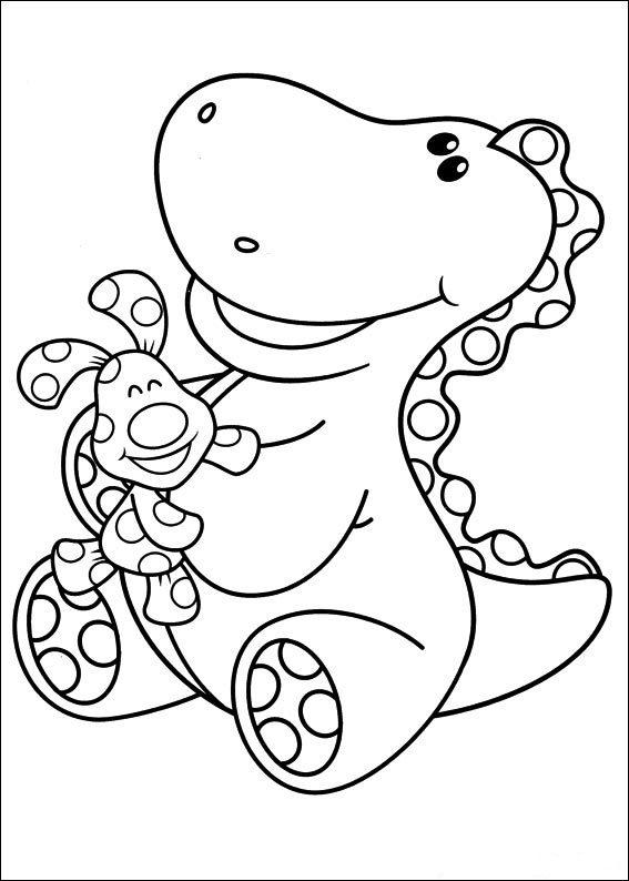 Blues Clues Coloring Pages Polka Dots And Dino