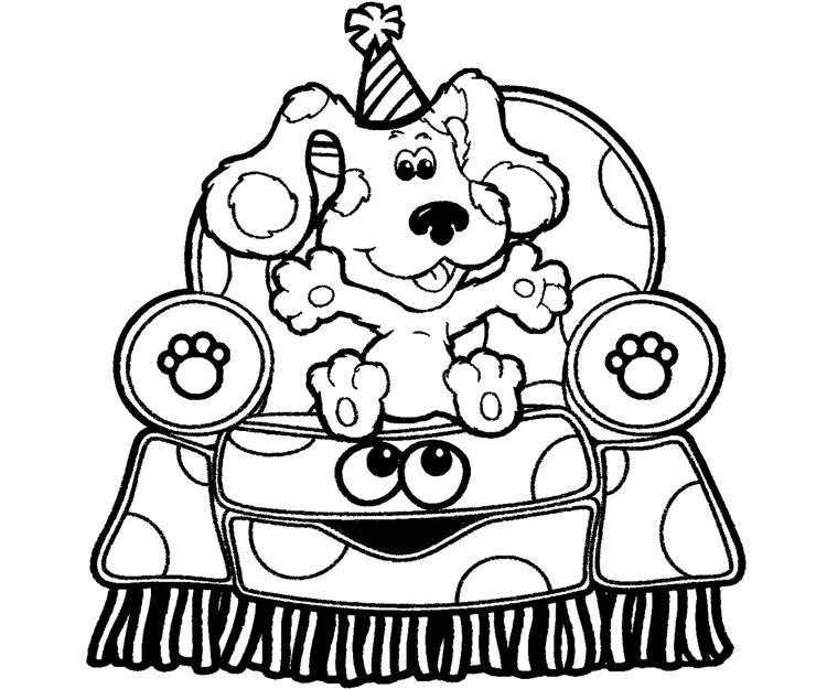 Blues Clues Coloring Pages Sitting On Chair