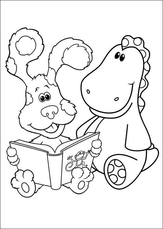 Blues Clues Coloring Pages Storytelling