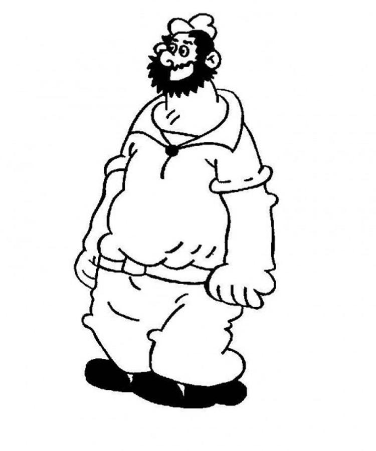 Bluto Popeye Coloring Pages