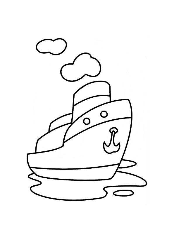 Boat Coloring Pages For Kids Printable
