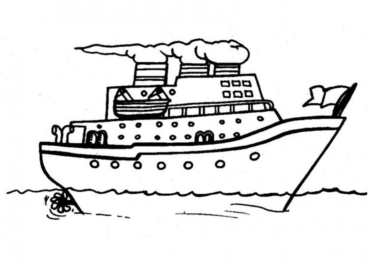 Boat Coloring Pages Free To Print