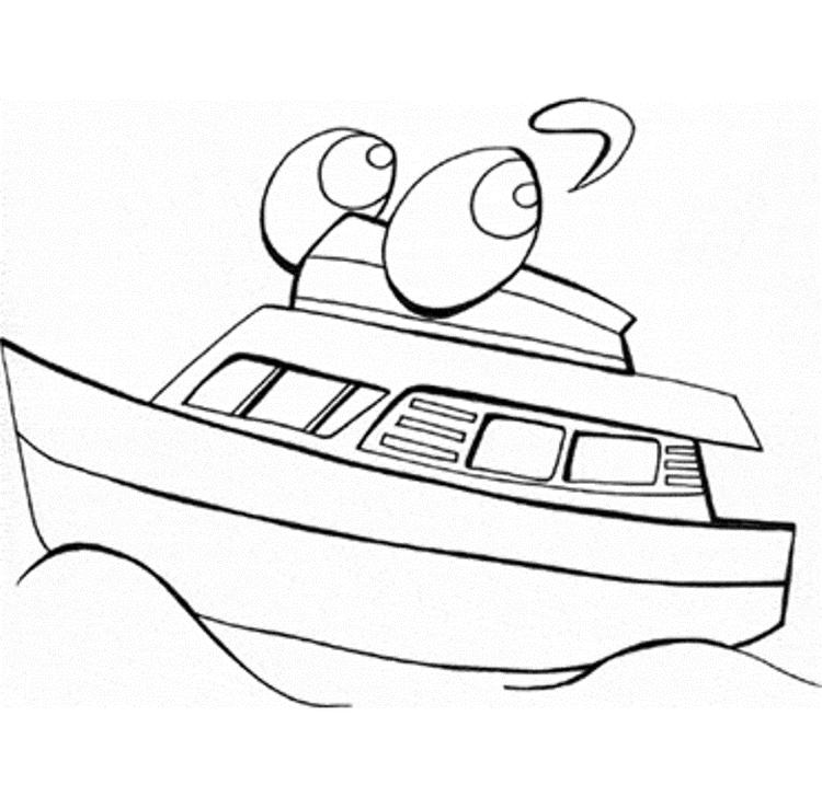 Boat Transportation Coloring Page For Kids