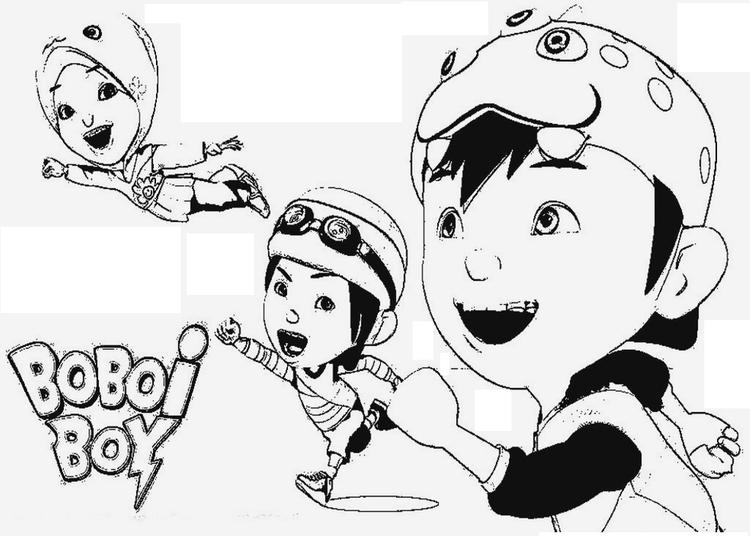 Boboi Boy Animation Coloring Pages