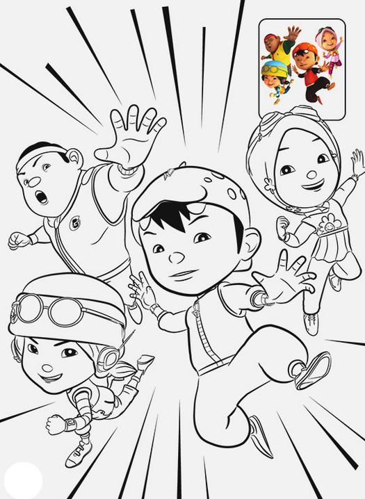 Boboiboy Coloring Page For Kids