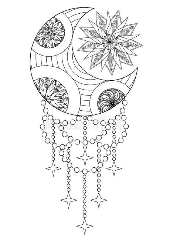 Bohemian Mandala Coloring Pages