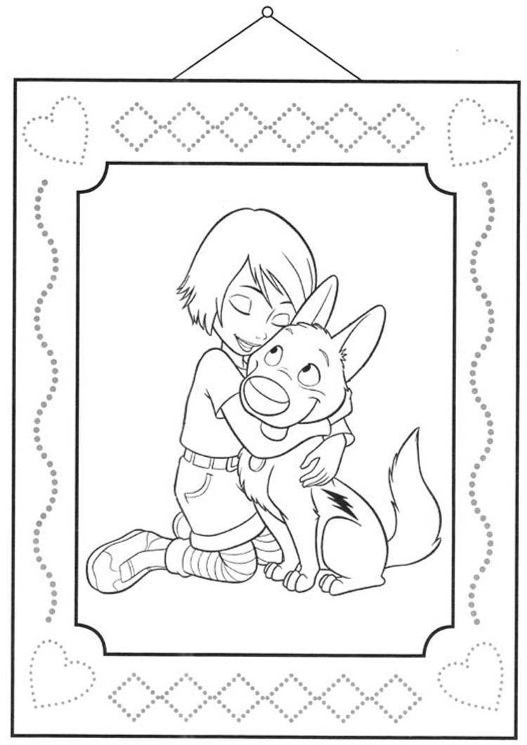 Bolt Free Printable Cartoon Coloring Pages For Children
