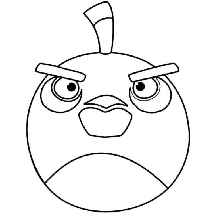 Bomb Bird Coloring Page