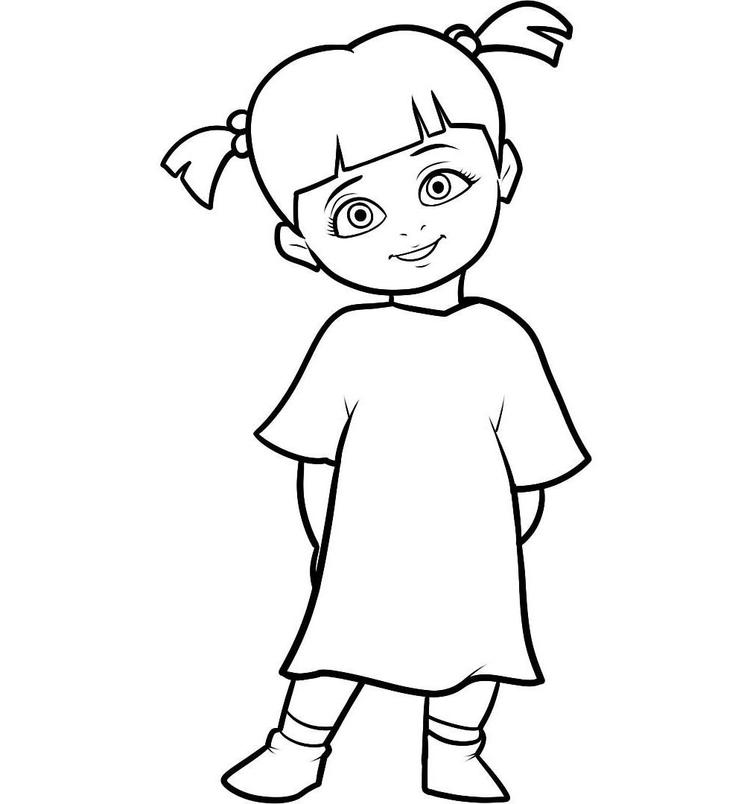Boo Monsters Inc Coloring Pages