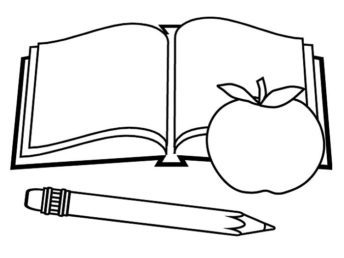 Book Back To School Coloring Pages 1