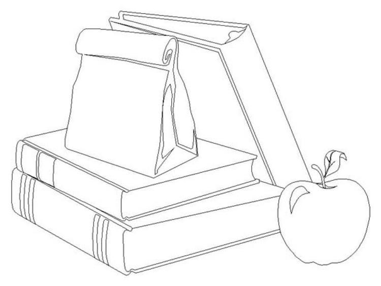 Books School Supplies Coloring Pages