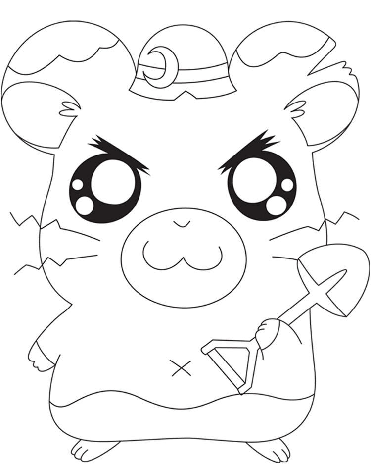 Boss Hamtaro Coloring Pages