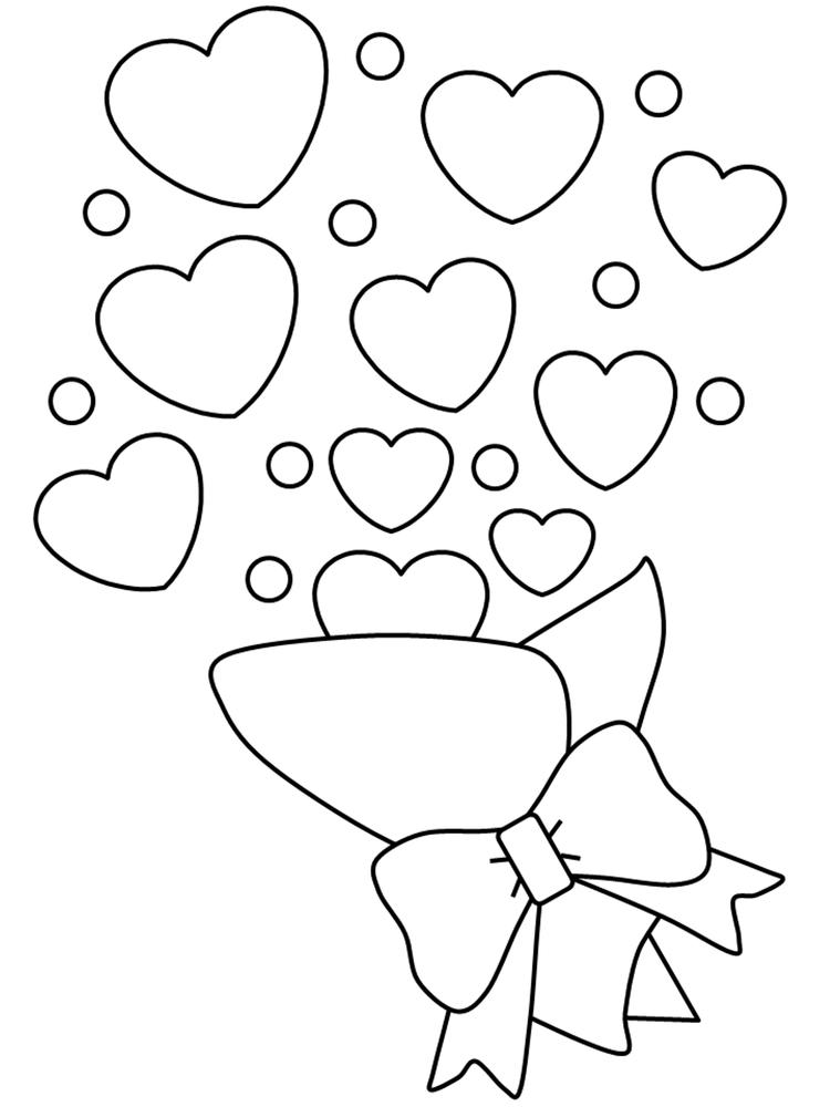 Bouquets Of Love Valentines Day Coloring Pages